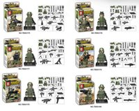 Wholesale Building Blocks Minifigures Jungle Army figures H toy gift puzzle kid No Box FREE Ship