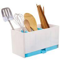 Wholesale Blue Home Drain chopsticks cage Colorful Kitchen Storage Tools Drain chopsticks cage spoon storage box