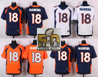 Wholesale 2016 Super Bowl Patch Broncos Jerseys Peyton Manning TJ Ward Emmanuel Sanders Von Miller Brock Osweiler Elway Jerseys