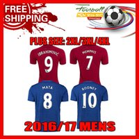 Wholesale Increase S XXXXL Manchester soccer jerseys Top quality Thai version jersey Ibrahimovic Football Shirts