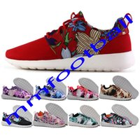 Cheap Hot sale cheap women flower roshe run outdoor running shoes breathable rosherun athletic sports shoes for women sneakers