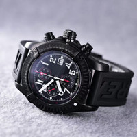 avenger watches - Limited Edition Full Black Steel Avenger Automatic Watch Chronograph Top Quality Luxury Brand Men Wristwatch