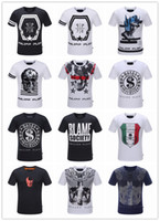 Wholesale Summer Men S Fashion Brand PP Short Sleeve T Shirt Men Casual Solid Color High Quality Skulls Philipp Plein Sports Camisetas T Shirt
