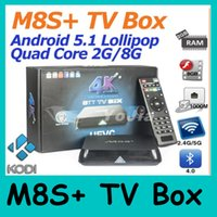 Wholesale M8S M8S Plus Android5 TV Box Quad Core G G Dual Amlogic S812 Wifi GB GB Bluetooth4 KODI Shipping DHL