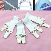 Wholesale 4 x Bed Sheet Mattress Cover Blankets Grippers Clip Holder Fasteners Elastic Set Hit Y102