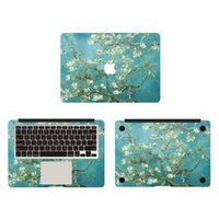apricot for skin - Apricot Flowers Van Gogh Canvas Vinyl Full Body Cover Laptop Decal Skins For Apple Macbook inch Protective Stickers
