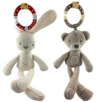bear crib bedding - Baby Soft Toy Rabbit bear Plush Doll kids Rattle Ring Bell Crib Bed Hanging Animal Toy