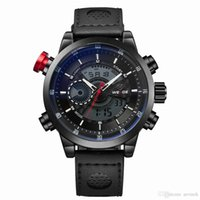 air force digital - good quality Military air force brand watches Backlight Analog and Digital multifunction genuine leather mens Waterproof clock DZ