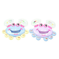 Wholesale 1pc Kids Baby Crab Design Handbell Musical Instrument Jingle Rattle Toy A00033 SPDH