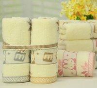 bear hand towels - High Quality Face Towel Bath Thick Absorbent Soft Cotton Hand Towel Travel Beach Towels Lovely Cartoon Bear Rabbit Washcloth