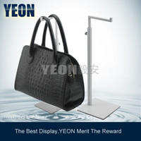 Wholesale YEON Stainless steel white powder coated clutch bag display stand handbag rack hanger for boutique store bulk order available