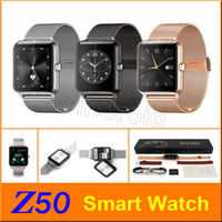 apple battery support - Luxury Z50 Smart Watch Phone Bluetooth Support SIM Card TF Card Smart Watches for Android IOS Iphone Smartphone Men Women two battery