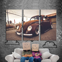 beetle car pictures - 3 Picture Combination Wall Art VW Beetle Volkswagen Vintage Classic Retro Car Supercar Canvas Prints Picture Painting Wall Decor