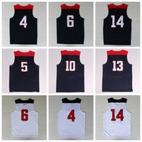 american blue - 2014 USA Basketball Jerseys Dream Team American Shirts Uniforms With Player Name Team Logo Navy Blue Best Quality
