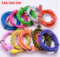 Wholesale Cheapest M ft cell phone cables both android and I5 I6 charging cables in stock color for choice