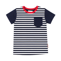 Wholesale Meney s Striped T shirts for Boys Breast Pocket Navy Blue Kids T shirts Tops for Baby Boys T T T T Children Clothes Summer Tee