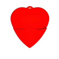 Wholesale Love Heart Red USB Pen Drive Memory Flash Disk U Sticks USB Real GB GB GB GB PVC USB Pen Drives