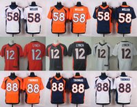 bell purple - 2016 Elite Mens Jerseys Von Miller Bell Paxton Lynch Demaryius Thomas Home Stitched Jerseys Free Drop Shipping