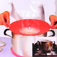 Wholesale Flexible Spill Stopper Silicone Lid Stops Pots and Pans from Messy Spillovers