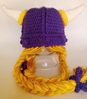 Cheap Boy crochet viking Best Spring / Autumn Crochet Hats toddler viking