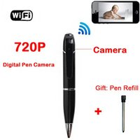 Wholesale hidden pen camera Spy Pen p Hd Wireless Wifi Ip Hidden Spy WIFI Pen Video Camera for Android And Ios Mini with Built in Dvr