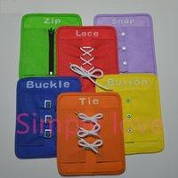 Wholesale Kid Early Development Education lps Kit Button Snap Buckle Zip Lace For Kindergarten School Children Learn To Dress Tie Shose