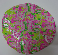 Wholesale 1pcs Printi Satin shower cap hot sale shower ear caps shower cap with paillette environmental shower cap hair cap shower ear caps