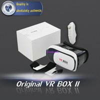 Wholesale 2016 Professional VR BOX II D Glasses VRBOX Upgraded Version Virtual Reality D Video Glasses Bluetooth Remote