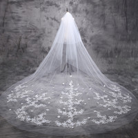 advance accessories - 2016 real photo Advanced Customization bridal cathedral veils for bridal meter hand made flowers beaded one layer wedding accessories