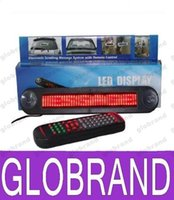 Wholesale with Retail package V LED Message Digital Moving English display Scrolling Car Sign Light Red LED door windows display With Cables GLO617