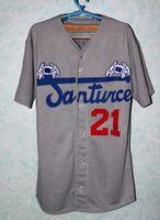 puerto rico - Retro Button Down Stitched Santurce Crabbers Puerto Rico Roberto Clemente Gray Men Fashion Baseball Jersey Shirt High Quality