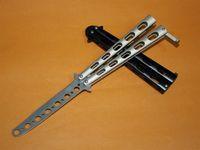 aluminum training knife - Practice Benchmade C33 Balisong Hole Style Shape Metal Trainer Tactical Folding Pocket Knives Practice Training Utility EDC Tools