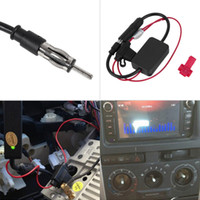 Wholesale Black V Car Automobile Radio Signal Amplifier ANT Auto FM Antenna Booster