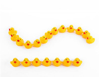 Wholesale Baby Kids Bath Water Toy Rubber Yellow Ducks Children Swiming Gifts Kids Bath Small Duck Toy Children Swiming Beach Gifts hot