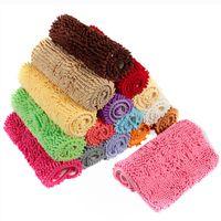 acrylic rug yarn - Hot Selling Soft Non Slip Chenille Yarn Fluffy Bedroom Rug Bath Door Carpet Floor Mat For Home Living Room Colors x cm