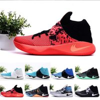 baseball ties - Newairl Mens Kyrie Irving II Easer Basketball Shoes bright crimson tie all star Sport sneakers original Retru effect for sale us7