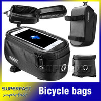 Wholesale Bicycle Smart Phone Bags Front Tube Bicycle Bags Waterproof Touch Screen Bags Functional Cycling Bags with OPP Package