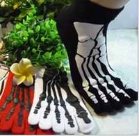 antibiotics animals - Fashion Skull High Quality Five Fingers Socks Dragon Scorpion Women Men Antibiotic DJ Anti Odor Socks Cotton Socks Toe