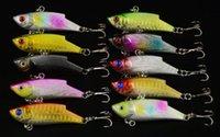 Hard Baits bass vibration - 10pcs Vibration Fishing Lure Crankbait Wobbler Bass CM G hooks VIB Hard Plastic Sea Fishing Tackle
