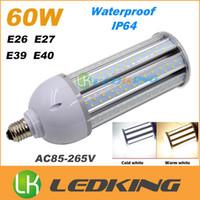 Wholesale 60W LED corn bulbs corn lights with cover waterproof IP64 E26 E27 E39 E40 mogul base led light bulbs SMD2835