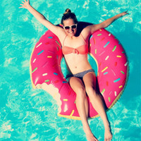 Wholesale Summer Donut Doughnut Water Toys cm Swimming Float Inflatable Swimming Ring Kids Swimming Inflatable Pools Life Buoy for Chilren