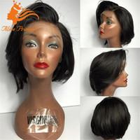 Wholesale Glueless Short Bob Full Lace Human Hair Wigs For Black Women Brazilian Hair Wavy Lace Front Human Hair Wigs