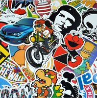 bicycle accessories mirror - 100pcs car sticker decal bicycle laptop car styling random PVC sticker bomb doodle motorcycle Skateboard Laptop Luggage Fridge accessories