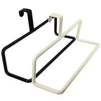 bar rags - Iron Single Bar Bathroom Kitchen Storage Rack Hook Shelf Hanging Towels Aprons Multifunctional Rags Black White Supplies