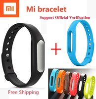 Wholesale IN STOCK Original Newest Smart Xiaomi MiBand Bracelet the English version APP for Android and IOS Phones