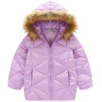 Wholesale New Children Kids Girls Winter Jacket Down Coat Fashion Lightweight Outwear Kids Warm Long Coat Down Parkas Cute Outwear