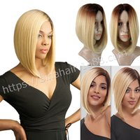 Wholesale ombre color syntheic short bobo WIGS high temperature resistant fiber woman wigs cosplay wigs colors you can choose