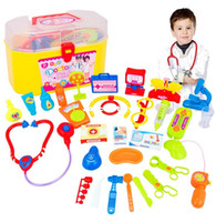 Wholesale Child Doctor Toy toy play house simulation packages medicine boxes care kit stethoscope
