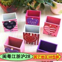 belt pen holder - Wool pen heart chejian penholder pen holder belt clip notes desktop storage box bitong