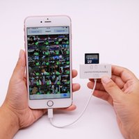 Wholesale Photo Studio Accessories for lightning Camera Adapter in SD Card Reader with Micro USB for iPad for iPhone s IOS